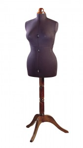 Lady valet black dark stand