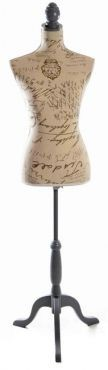 Display and Dressmaking Form in Classical Script Fabric - 1 Size